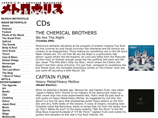 Metropolis - Captain Funk Heavy Metal review