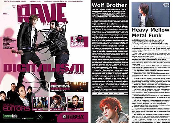Rave Magazine featuring Captain Funk