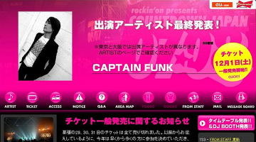 Captain Funk at Countdown Japan