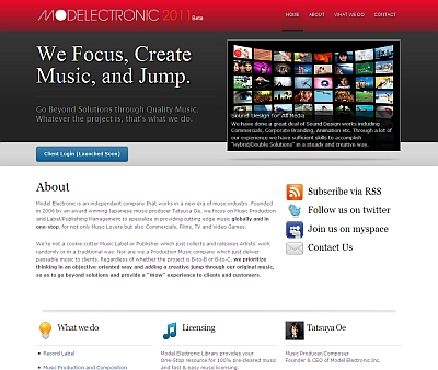 Model Electronic website