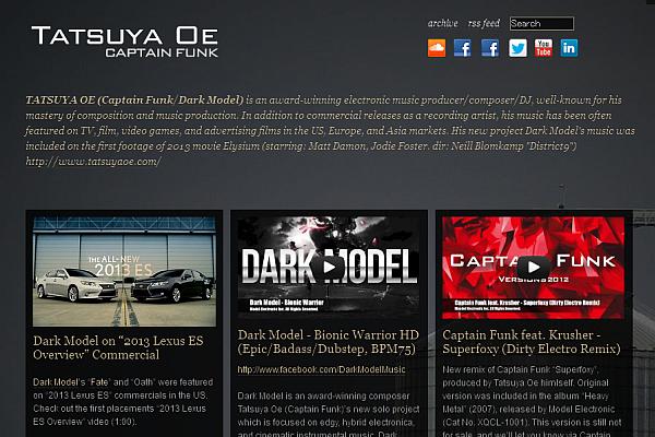 Tatsuya Oe (Captain Funk/Dark Model) Tumblr