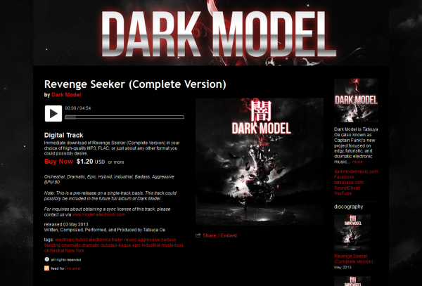 Dark Model's tracks have been out on Bandcamp