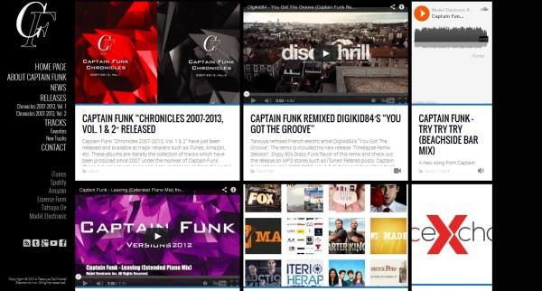Captain Funk official website renewed