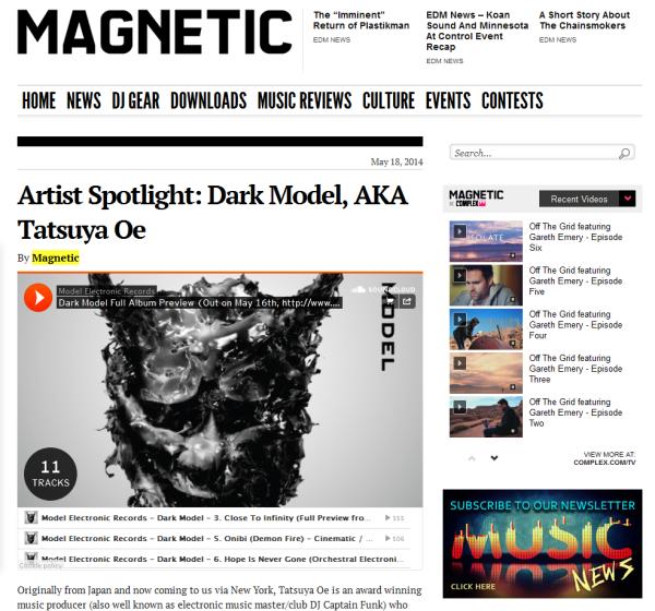 Dark Model on Magnetic_0518