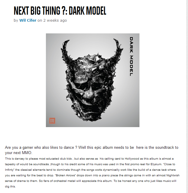 Dark Model album review_on Soletron