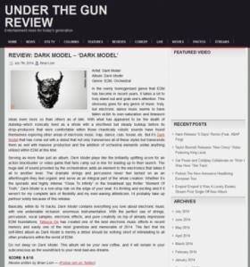 「2014年最も壮大で記憶に残る作品」 – Dark Model アルバム・レビュー第9弾