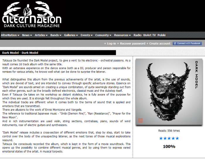 Dark Model album review on Alternation_1013