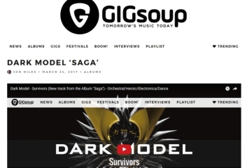 Dark Model「Saga」レビュー紹介 第ニ弾(米ハフィントン・ポスト, The 405, Gig Soup等)