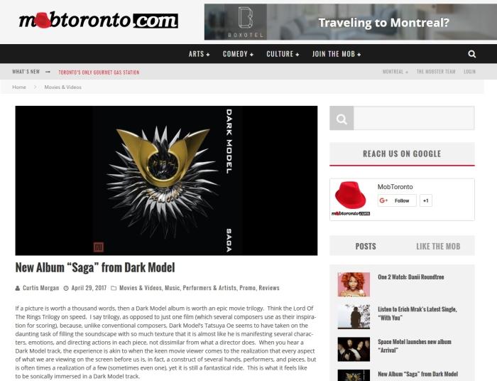 MobToronto - Dark Model - Saga